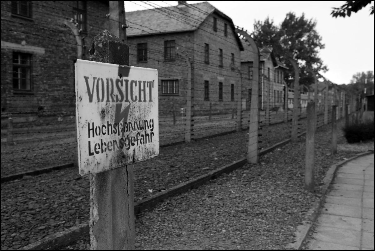 Освенцим Аушвиц концлагерь под напряжением