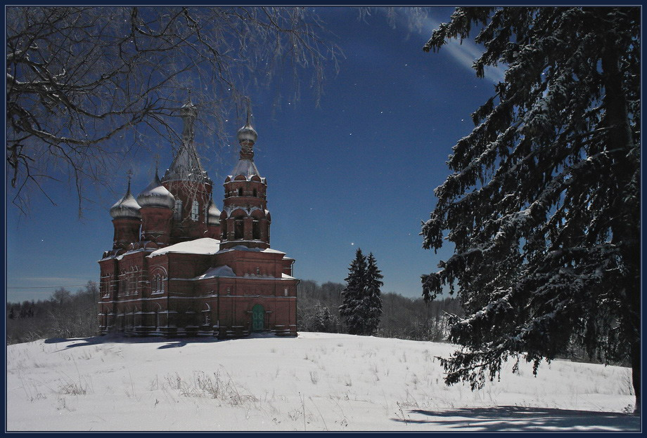 Ольгин монастырь зимой