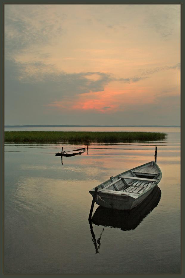 Вечер лодки Селигер