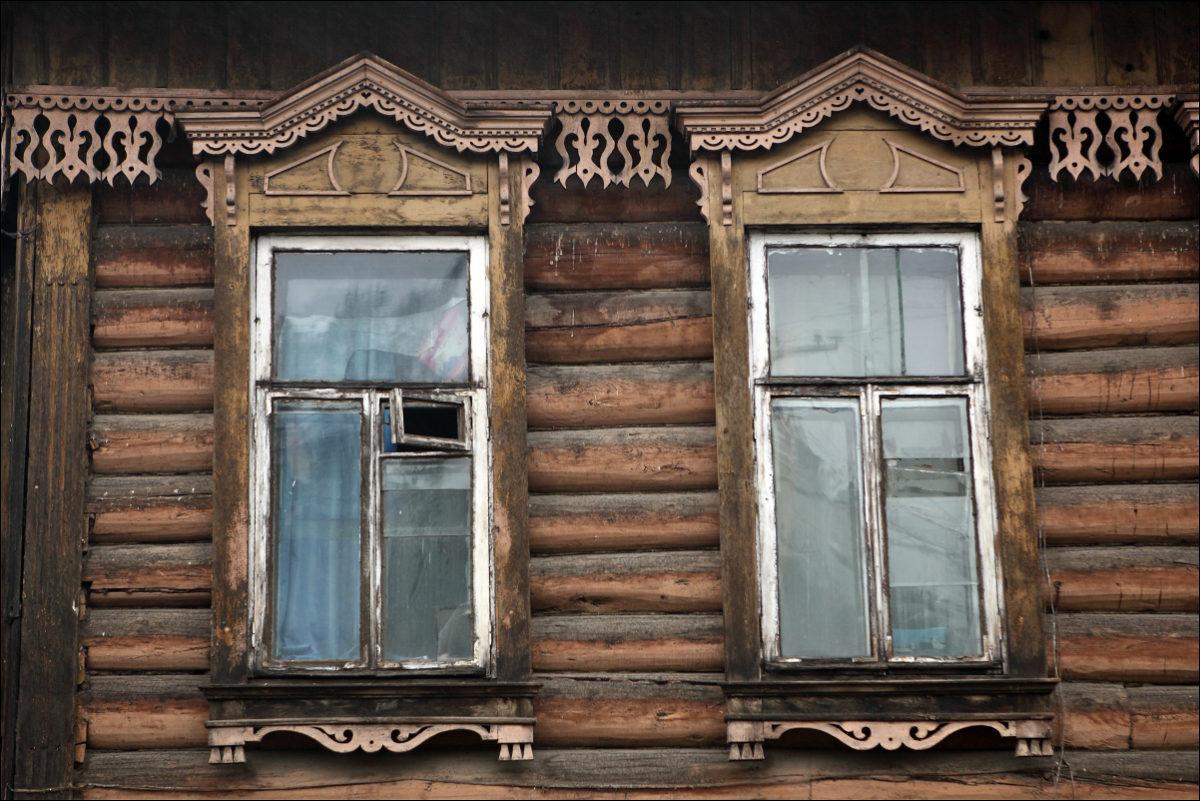 Резные окна Иркутска