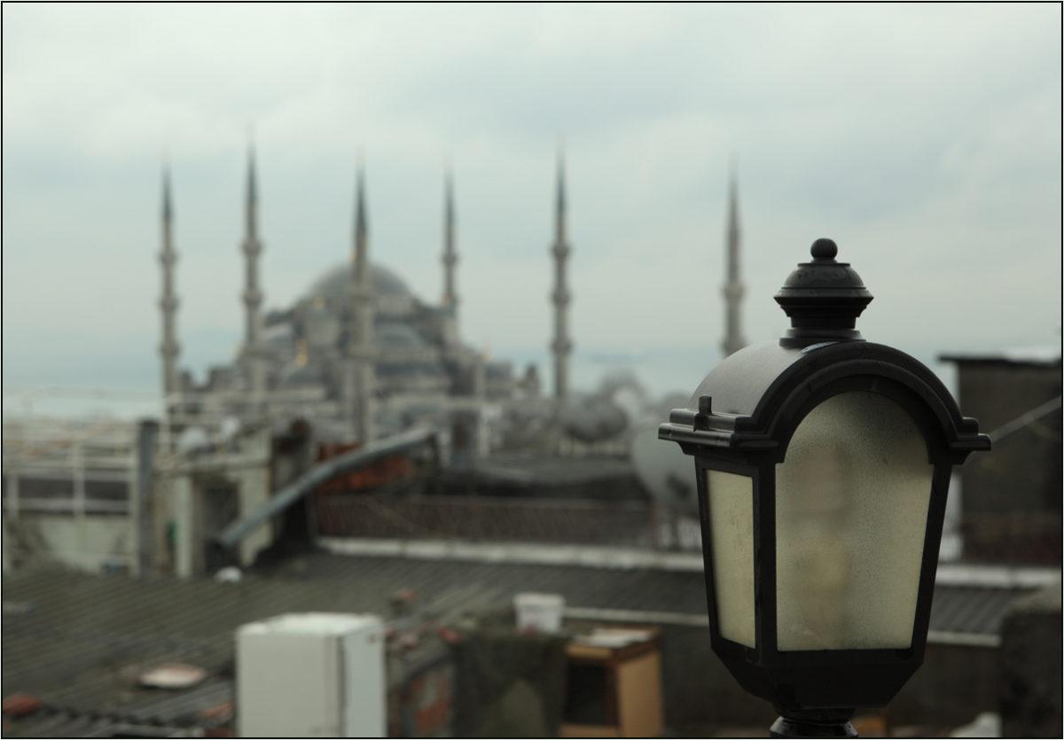 Голубая мечеть утро Стамбул