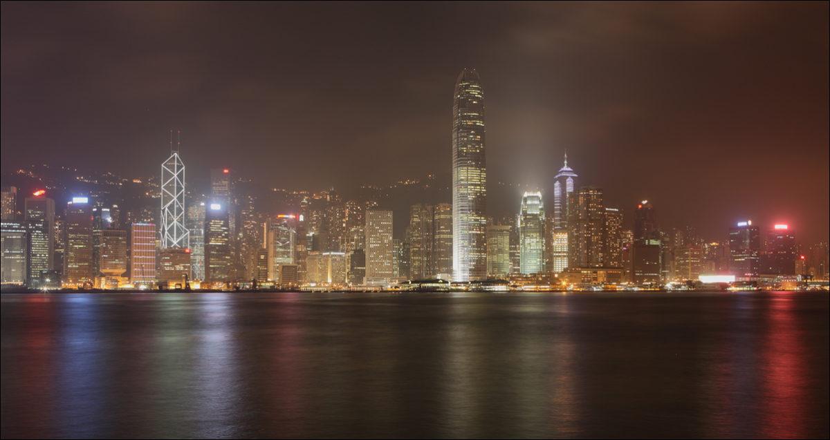 Световое шоу Гонконг