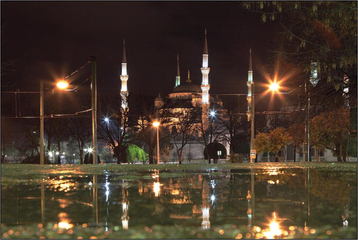Голубая мечеть Стамбул ночь