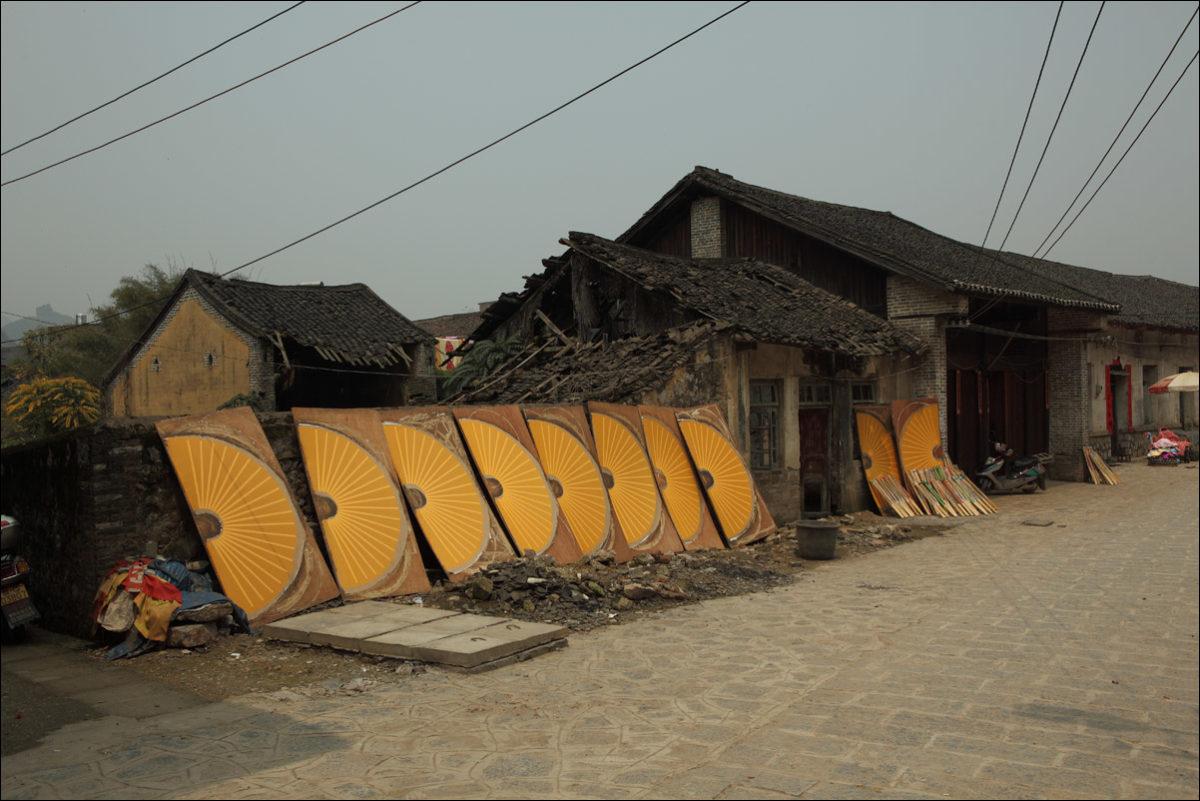 Деревня Фули Китай раскрашенные веера
