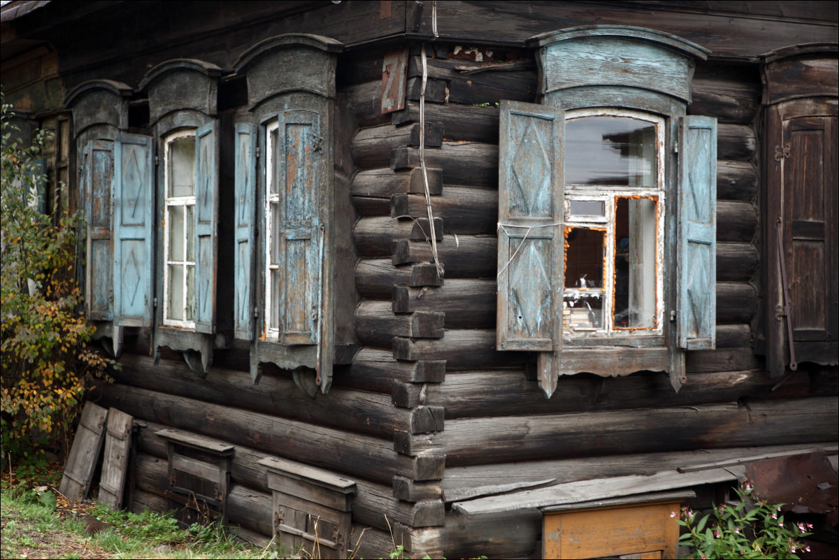 Иркутск деревянное зодчество ставни