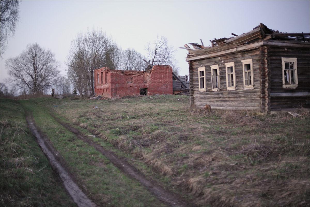 разрушенные дома заброшенная деревня