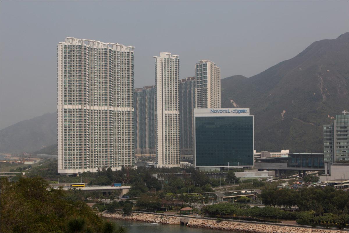 Новый территории Гонконг многоэтажки