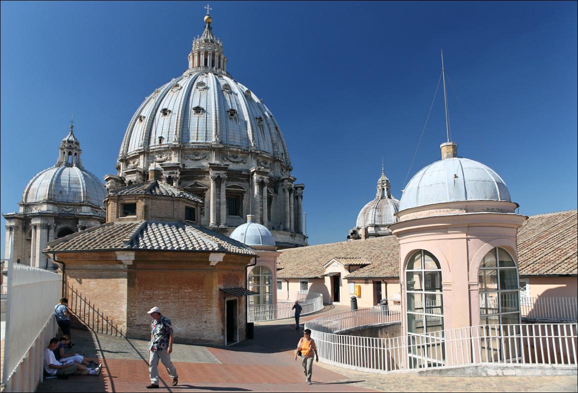 На крыше собора святого Петра Рим