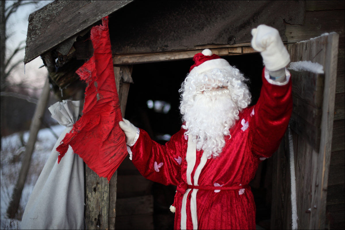 Дед Мороз старый дом
