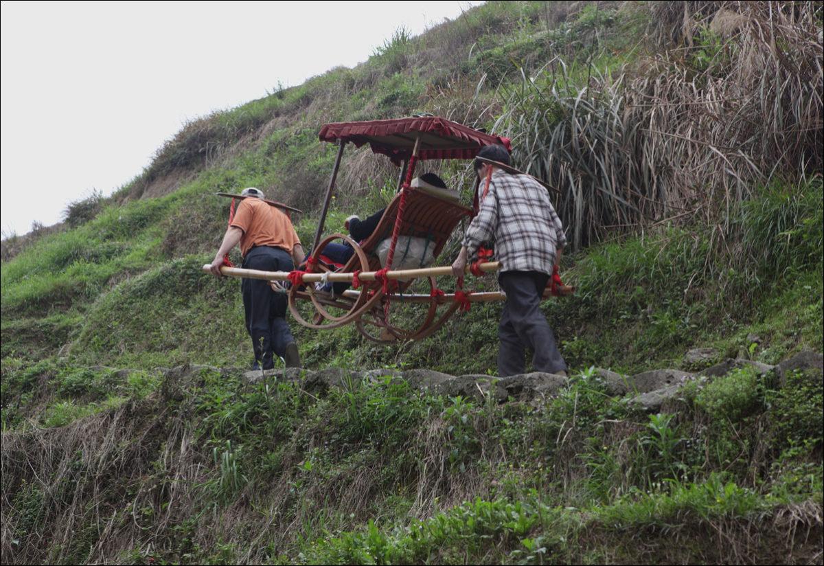 Рисовые террасы Пиньян носильщики