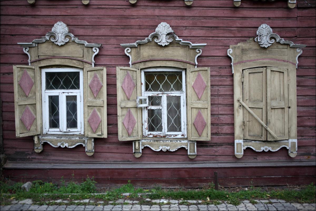 Иркутск деревянное зодчество окна