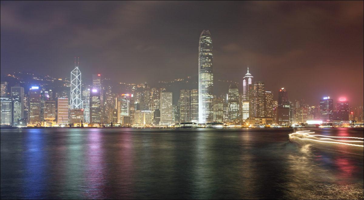 Гонконг вечерняя набережная
