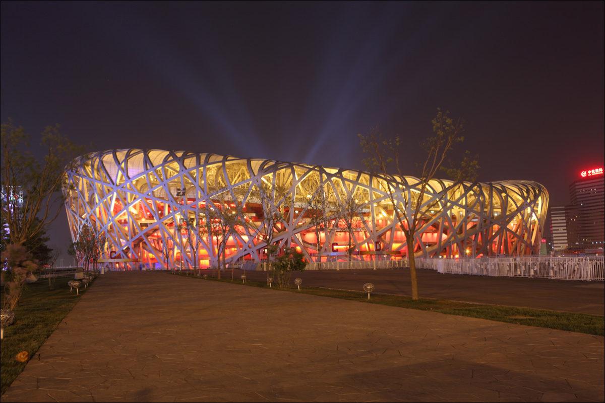 стадион Большое гнездо олимпиада 2008 Пекин