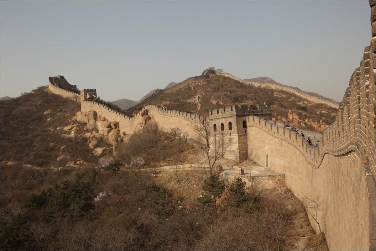 Великая китайская стена Пекин весна