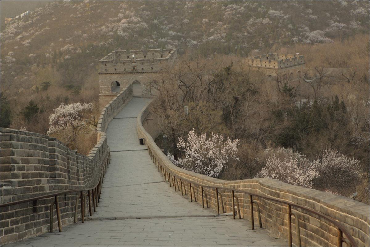 Великая китайская стена башни Бадалин весна