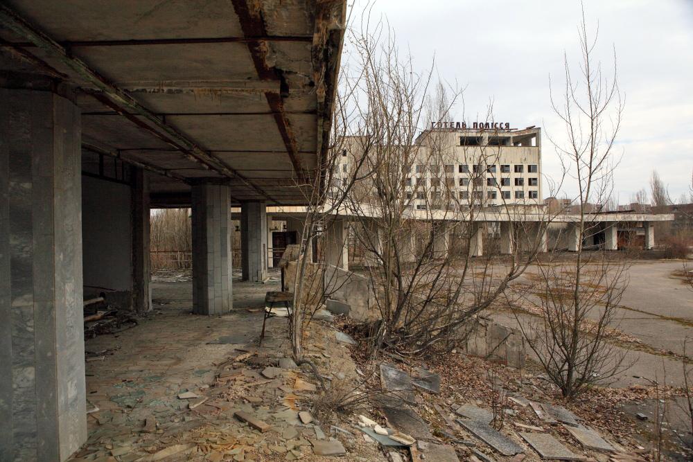 Гостиница Полесье Припять весна Энергетик