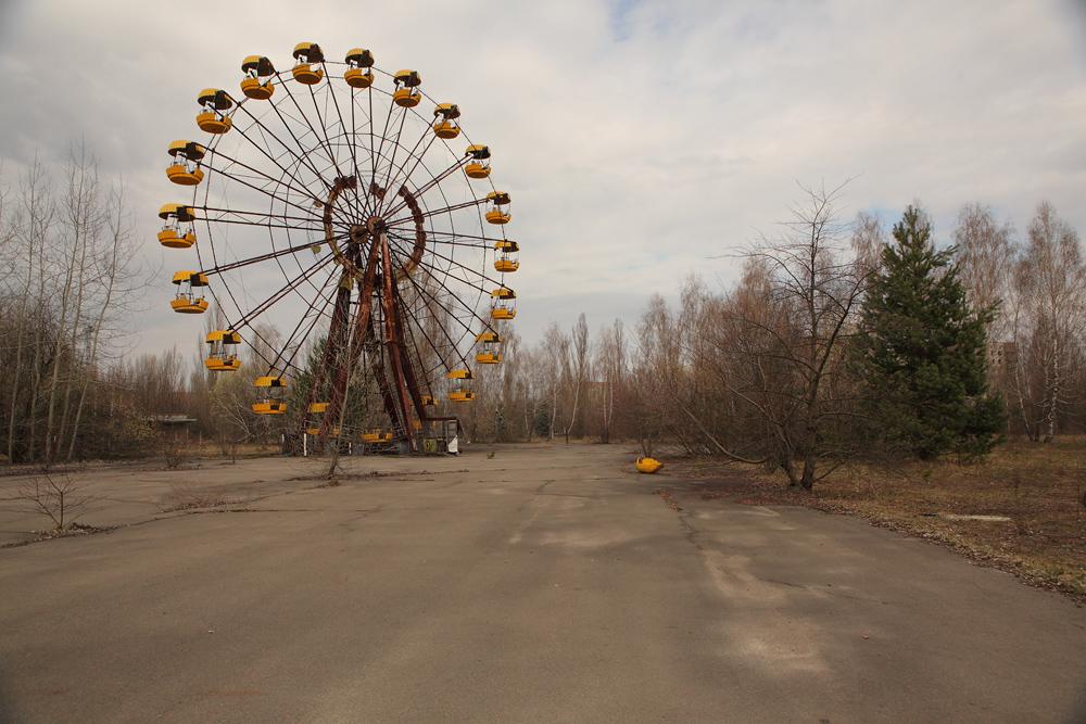 Колесо обозрения Припять парк аттракционов