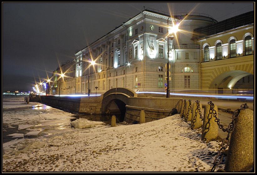 Зимняя канавка вечер