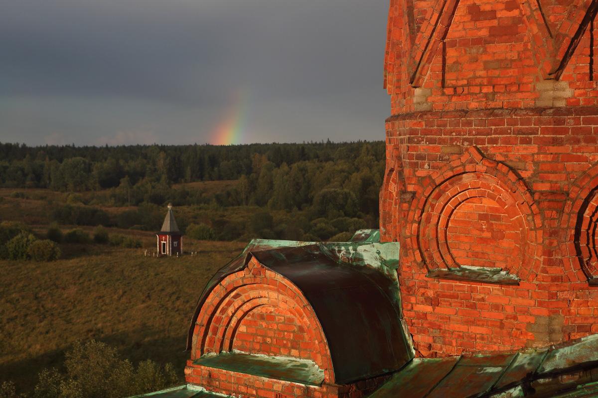 Колокольня на истоке Волги Волговерховье